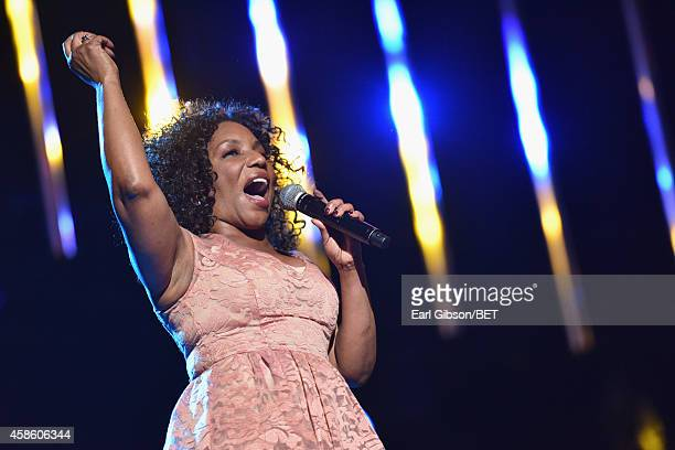 Singer Stephanie Mills performs onstage during the 2014 Soul Train Music Awards at the Orleans Arena on November 7 2014 in Las Vegas Nevada