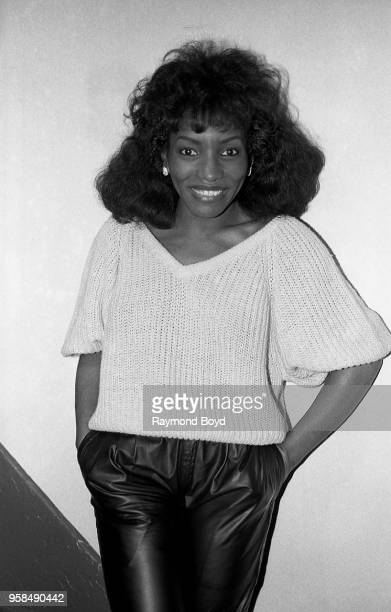 Singer Stephanie Mills poses for photos backstage at the Auditorium Theatre in Chicago Illinois in January 1986