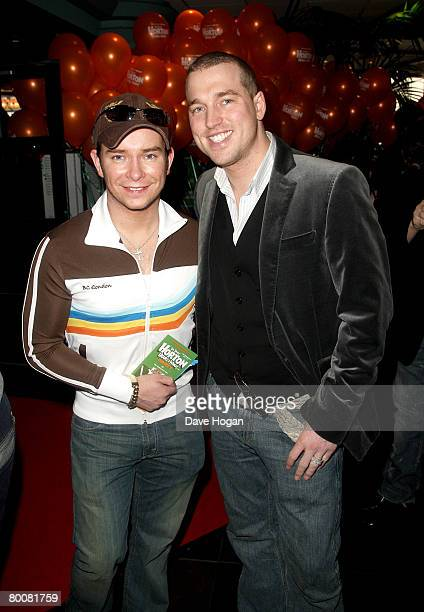 Singer Stephen Gately and Andy Cowles arrive at the VIP screening of 'Horton Hears A Who' at the Vue cinema Leicester Square on March 2 2008 in...