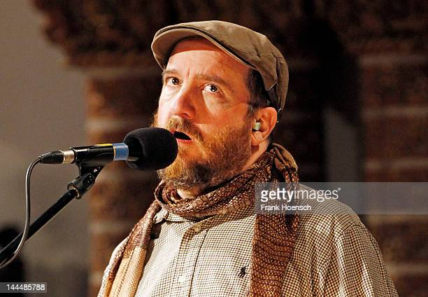 Singer Stephin Merritt of The Magnetic Fields performs live during a concert at the Passionskirche on May 14 2012 in Berlin Germany