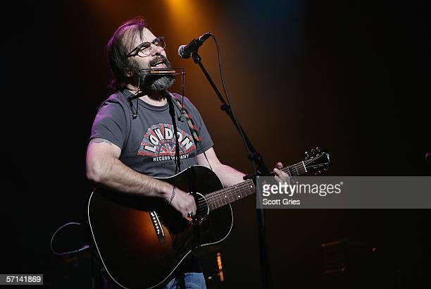 Singer Steve Earle performs at the Bring 'Em Home Now 3rd Iraq War Anniversary Concert at Hammerstein Ballroom March 20 2006 in New York City