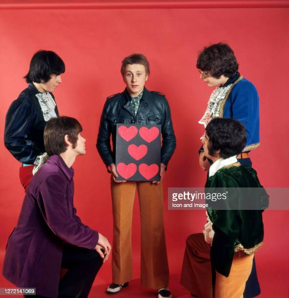 Singer Steve Ellis, drummer Maurice Bacon, guitar player Rex Brayley, bassist Mick Jackson and keyboardist Lynton Guest, all of the British pop group...