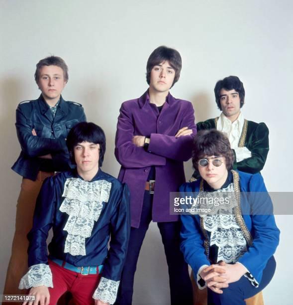 Singer Steve Ellis, keyboardist Lynton Guest, bassist Mick Jackson, drummer Maurice Bacon and guitar player Rex Brayley, all of the British pop group...