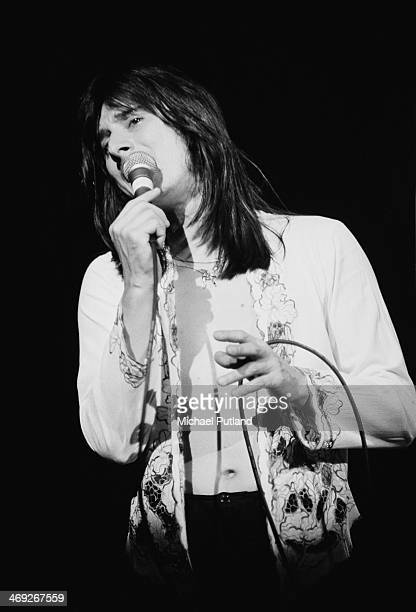 Singer Steve Perry performing with American rock group Journey on their 'Departure' tour, 1980.