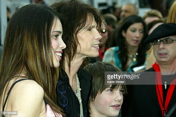 Singer Steven Tyler and family arrive to the 47th Annual Grammy Awards at the Staples Center on February 13 2005 in Los Angeles California