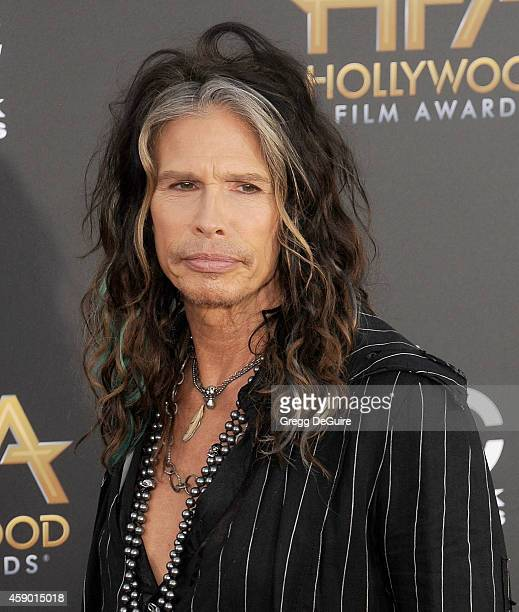 Singer Steven Tyler arrives at the 18th Annual Hollywood Film Awards at The Palladium on November 14 2014 in Hollywood California