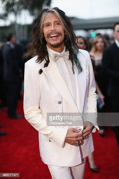 Singer Steven Tyler attends the 56th GRAMMY Awards at Staples Center on January 26 2014 in Los Angeles California