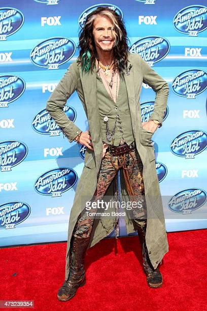 Singer Steven Tyler attends the 'American Idol' XIV grand finale at Dolby Theatre on May 13 2015 in Hollywood California