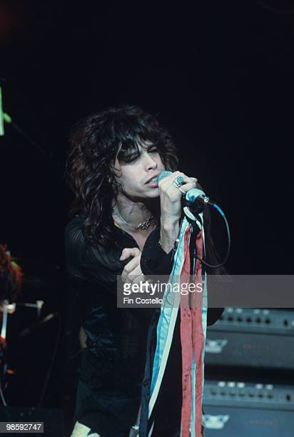 Singer Steven Tyler of Aerosmith performs on stage at The Summit in Houston Texas on June 24 1976