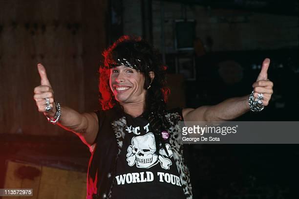 Singer Steven Tyler of American rock group Aerosmith October 1991