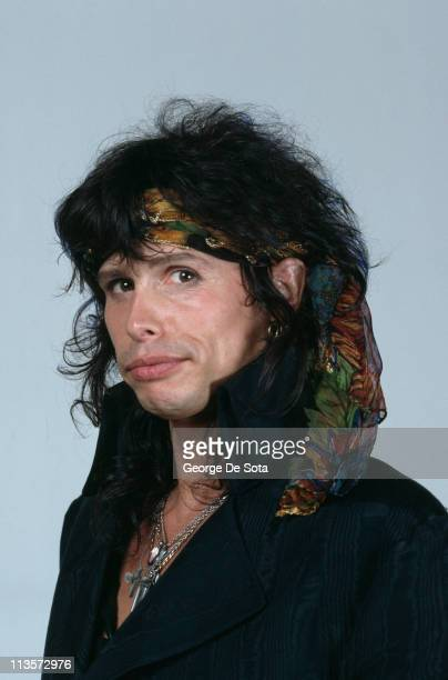 Singer Steven Tyler of American rock group Aerosmith October 1991