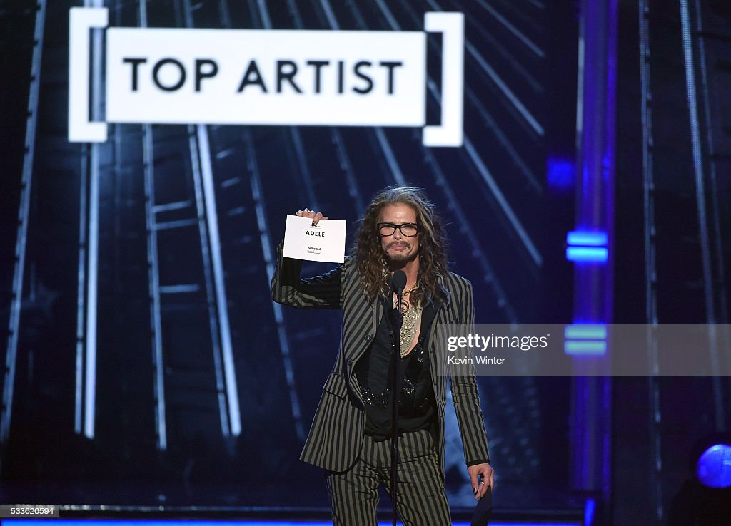 Singer Steven Tyler speaks onstage during the 2016 Billboard Music Awards at T-Mobile Arena on May 22, 2016 in Las Vegas, Nevada.
