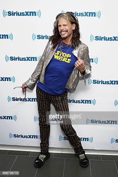 Singer Steven Tyler visits the SiriusXM Studios on January 25 2016 in New York City