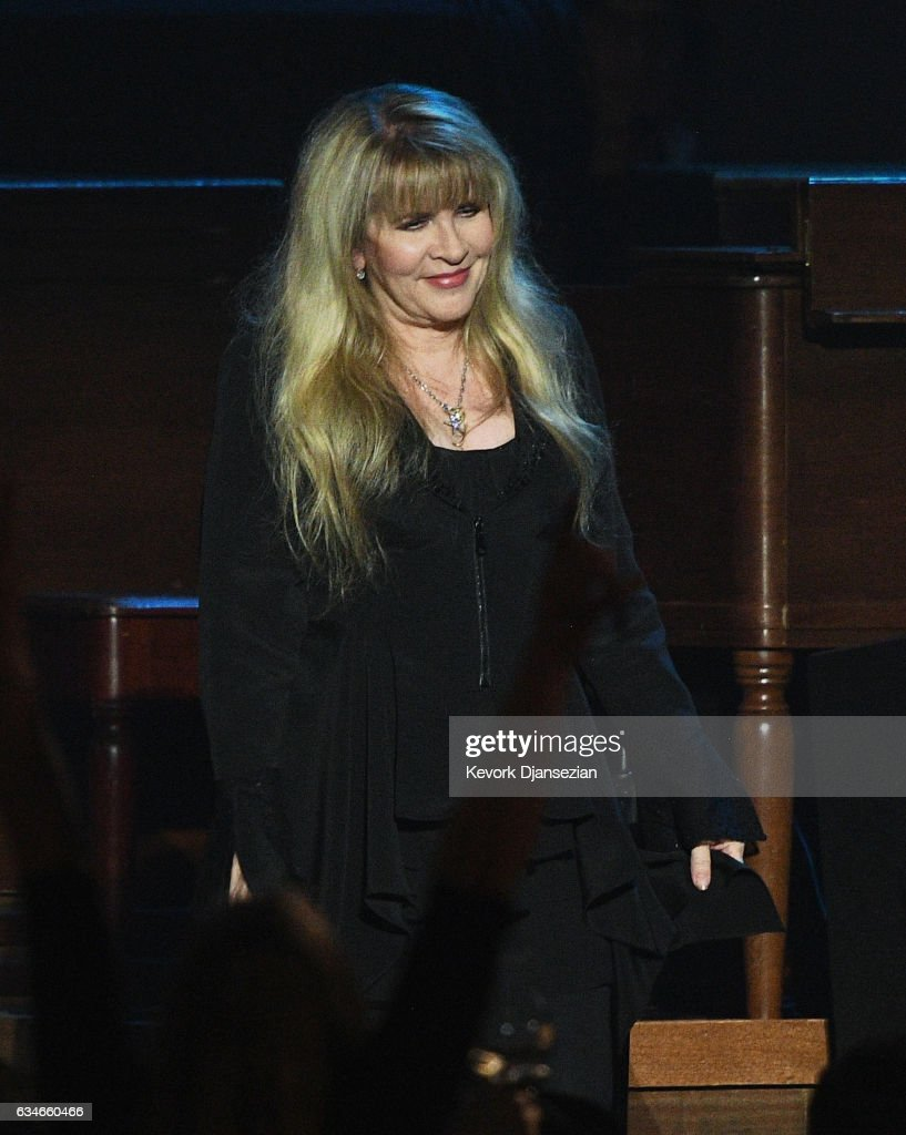 Singer Stevie Nicks appears onstage during MusiCares Person of the Year honoring Tom Petty at the Los Angeles Convention Center on February 10, 2017 in Los Angeles, California.