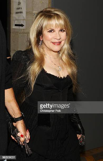 Singer Stevie Nicks backstage during the 52nd Annual GRAMMY Awards held at Staples Center on January 31 2010 in Los Angeles California