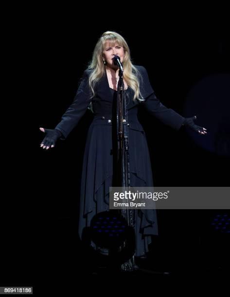 Singer Stevie Nicks performs on stage during her 24 Karat Gold Tour at Perth Arena on November 2 2017 in Perth Australia