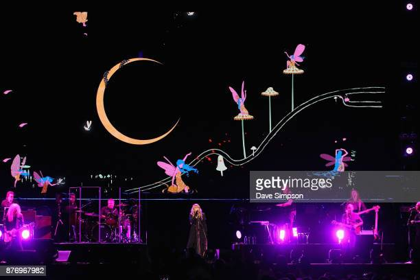 Singer Stevie Nicks performs on stage during her 24 Karat Gold Tour at Spark Arena on November 21 2017 in Auckland New Zealand