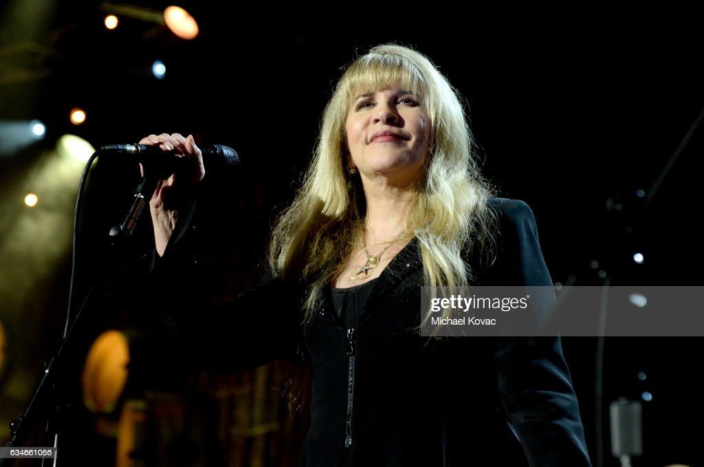 Singer Stevie Nicks performs onstage during MusiCares Person of the Year honoring Tom Petty at the Los Angeles Convention Center on February 10, 2017 in Los Angeles, California.