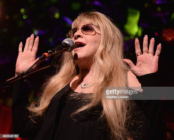 Singer Stevie Nicks performs with Deer Tick as part of The Deer Tick 10 New Year's Eve 2015 at Brooklyn Bowl on December 31 2014 in New York City