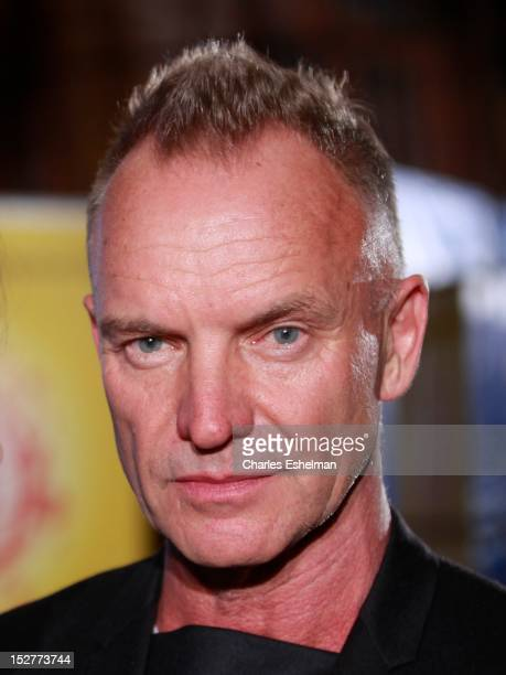 Singer Sting attends Cinema for Peace New York 2012 at The Harvard Club on September 25, 2012 in New York City.