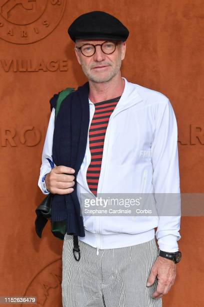 Singer Sting attends the 2019 French Tennis Open - Day Five at Roland Garros on May 30, 2019 in Paris, France.