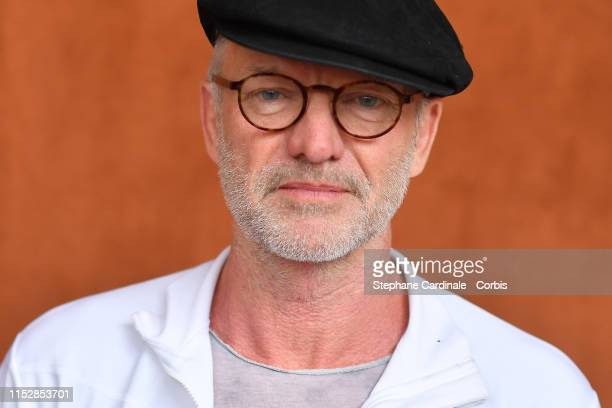 Singer Sting attends the 2019 French Tennis Open - Day Six at Roland Garros on May 31, 2019 in Paris, France.