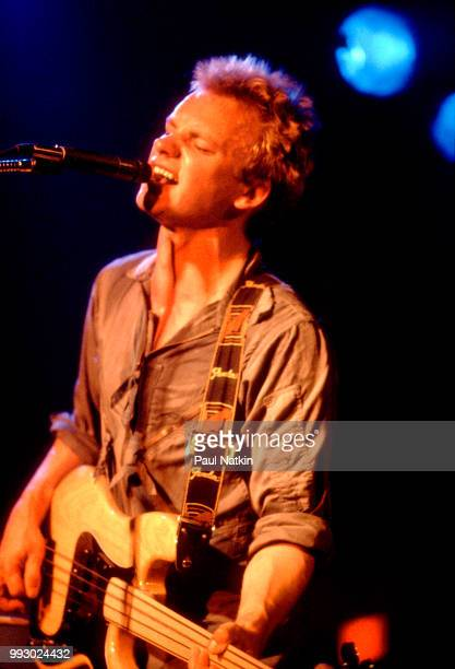 Singer Sting of The Police performs on stage at B'Ginnings in Schaumberg, Illinois, March 13, 1979.