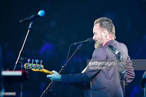 Singer Sting performs as part of NBA AllStar 2016 on February 14 2016 at the Air Canada Centre in Toronto Ontario Canada NOTE TO USER User expressly...