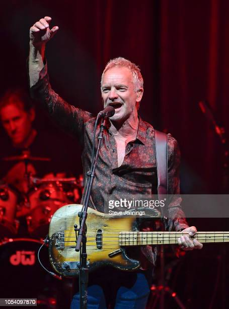 Singer Sting performs at The Masonic Auditorium on October 26, 2018 in San Francisco, California.