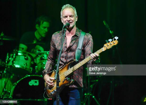 Singer Sting performs at The Masonic Auditorium on October 26 2018 in San Francisco California