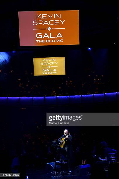 Singer Sting performs at The Old Vic Theatre for a gala celebration in honour of Kevin Spacey as the artistic director's tenure comes to an end on...