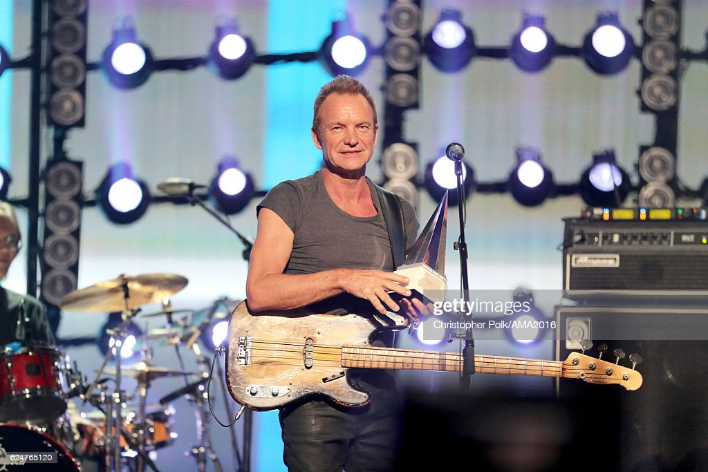 Singer Sting performs onstage the 2016 American Music Awards at Microsoft Theater on November 20, 2016 in Los Angeles, California.