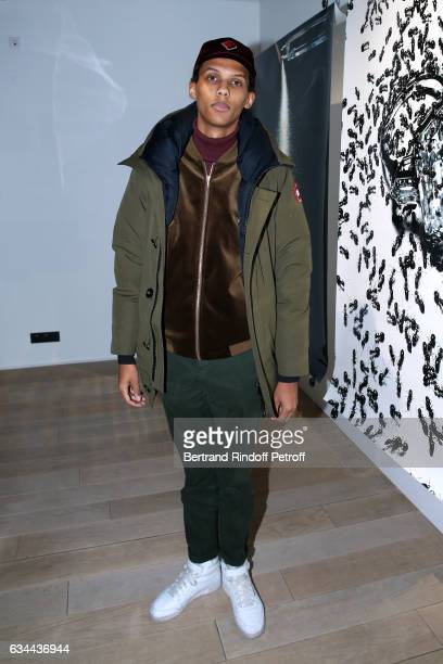Singer Stromae attends the Launching of the Book 'Mocafico Numero' at Studio des Acacias on February 9 2017 in Paris France