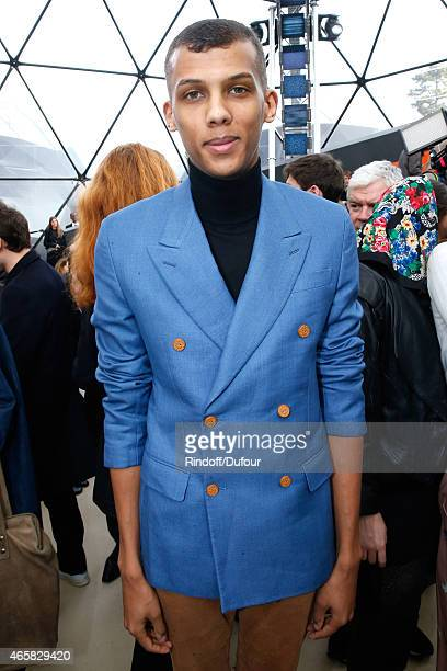 Singer Stromae attends the Louis Vuitton show as part of the Paris Fashion Week Womenswear Fall/Winter 2015/2016 on March 11 2015 in Paris France