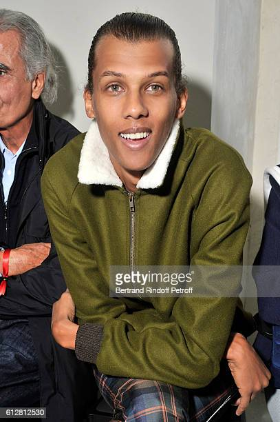 Singer Stromae attends the Louis Vuitton show as part of the Paris Fashion Week Womenswear Spring/Summer 2017 on October 5 2016 in Paris France