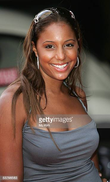 Singer SuElise Nash of MisTeeq arrives at the UK Premiere of Herbie Fully Loaded at Vue West End on July 28 2005 in London England