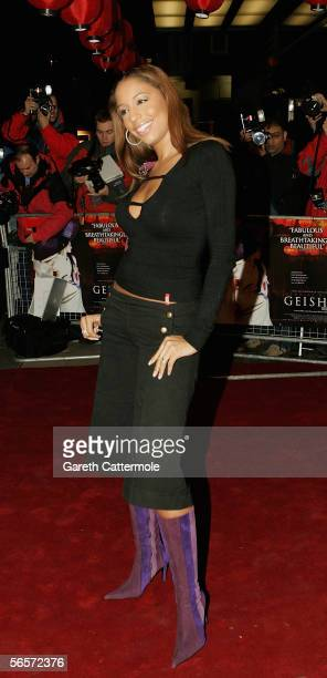 Singer SuElise Nash of MisTeeq arrives at the UK Premiere of Memoirs Of A Geisha at the Curzon Mayfair on January 11 2006 in London England The...