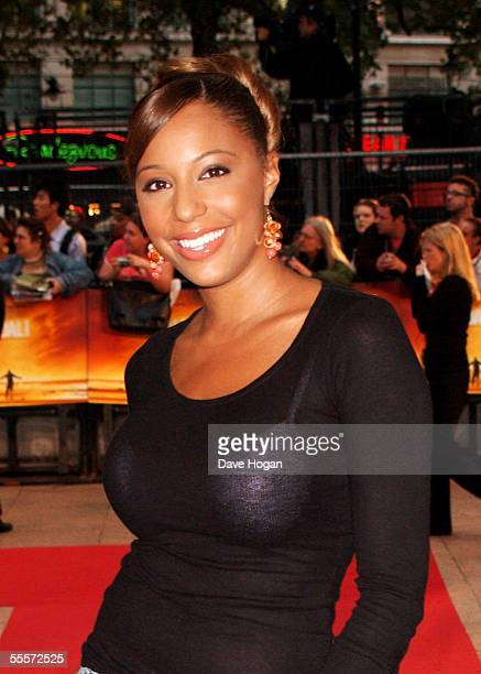 Singer SuElise Nash of MisTeeq arrives at the World Premiere of Goal at the Odeon Leicester Square on September 15 2005 in London England