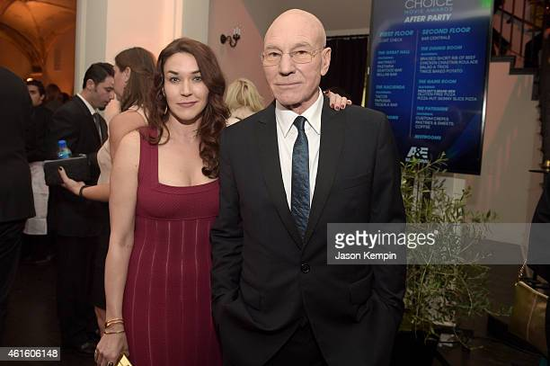 Singer Sunny Ozell and actor Sir Patrick Stewart attend the after party for the 20th annual Critics' Choice Movie Awards at the Hollywood Athletic...