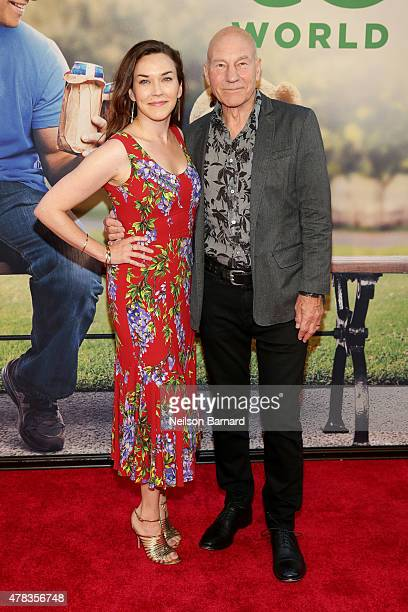 "Singer Sunny Ozell and actor Sir Patrick Stewart attend the New York Premiere of ""Ted 2"" at the Ziegfeld Theater on June 24, 2015 in New York City."