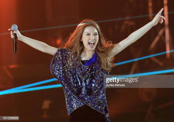 Singer Superfly performs during the MTV World Stage VMAJ 2010 at Yoyogi National Gymnasium on May 29 2010 in Tokyo Japan