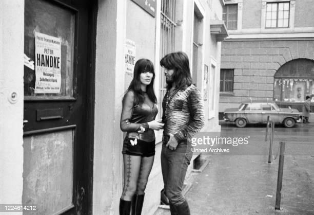 Singer Susan Aviles at Munich with Israeli singer Abi Ofarim Germany 1970s