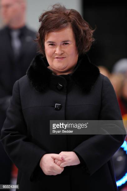 Singer Susan Boyle performs on NBC's 'Today' at Rockefeller Center on November 23 2009 in New York City