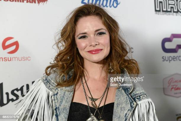 Singer Suzanne Santo of Honeyhoney attends the Strange 80's benefit concert at The Fonda Theatre on May 14 2017 in Los Angeles California