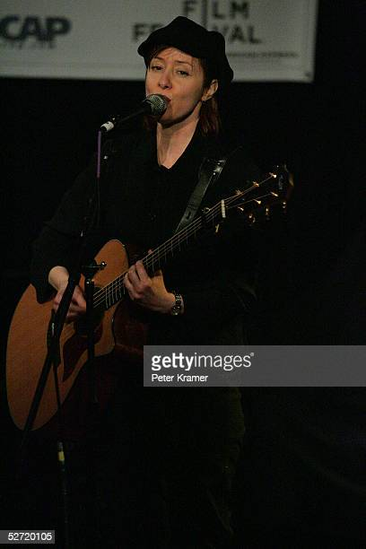 Singer Suzanne Vega performs during the Tribeca Film Festival ASCAP Music Lounge. The ASCAP Music Lounge is dedicated to showcasing the exceptional...