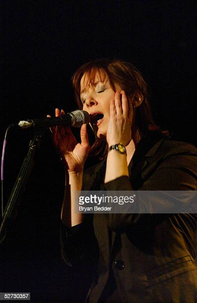 Singer Suzanne Vega performs during the Tribeca Film Festival Music Panel at The ASCAP Lounge The ASCAP Music Lounge is dedicated to showcasing the...