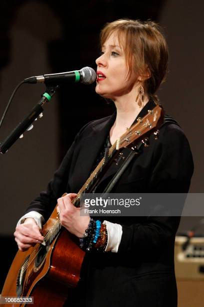 Singer Suzanne Vega performs live during a concert at the Passionskirche on November 10 2010 in Berlin Germany