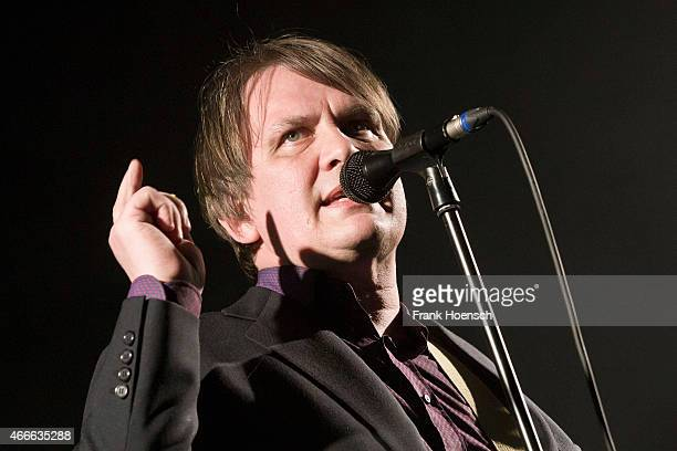 Singer Sven Regener of the German band Element of Crime performs live during a concert at the Tempodrom on March 17 2015 in Berlin Germany