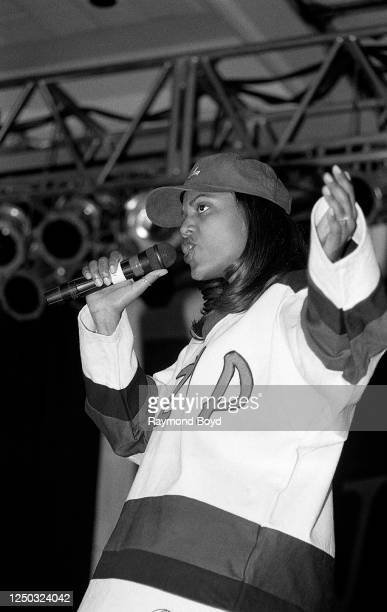 Singer Sweet Sable performs at the Hyatt Hotel in Chicago, Illinois in June 1994.