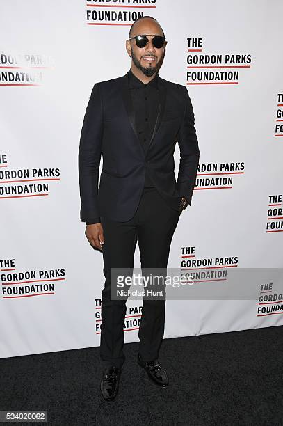 Singer Swizz Beatz attends the 2016 Gordon Parks Foundation awards dinner at Cipriani 42nd Street on May 24 2016 in New York City